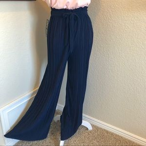 Crinkled Wide Leg Pants